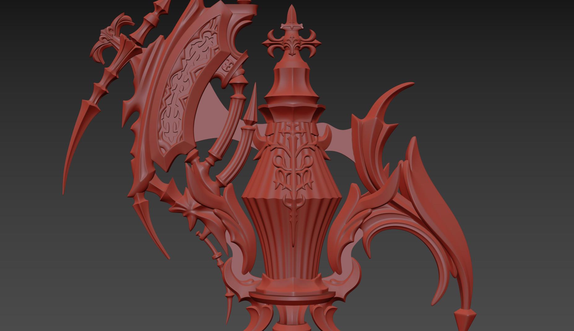 FFXIV Red Mage - Antiquated Murgleis Focus 3D Print Files