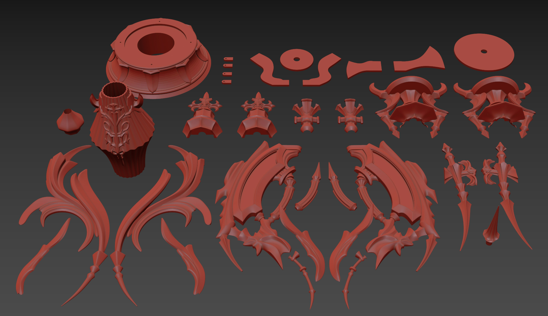 FFXIV Red Mage - Antiquated Murgleis Focus 3D Print Files
